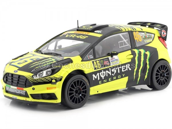 2015 Ford Fiesta RS WRC Valentino Rossi Winner Rally Monza 1:18 IXO Models 18RMC015 Cochesdemetal.es