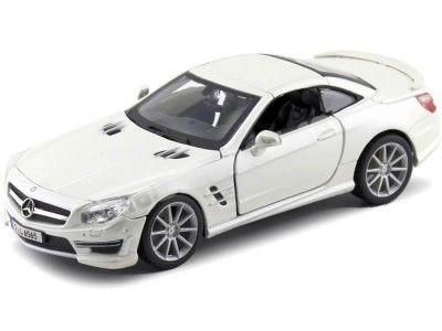 2009 Mercedes-Benz SL 65 AMG Hardtop Blanco 1:24 Bburago 21066 Cochesdemetal.es