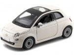 2007 Fiat Nuova 500 Coupe Blanco 1:24 Bburago 22106