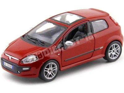2010 Fiat Punto Evo Rojo 1:24 Bburago 22118 Cochesdemetal.es