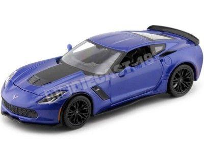 2015 Chevrolet Corvette C7 Z06 Azul Metaliado 1:24 Maisto 31133