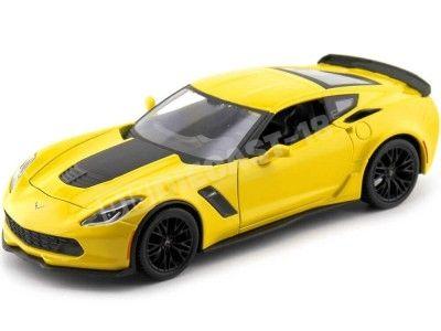 2015 Chevrolet Corvette C7 Z06 Amarillo Metalizado 1:24 Maisto 31133 Cochesdemetal.es