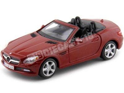 2011 Mercedes-Benz SLK-Class R172 Roadster Rojo 1:24 Maisto 31206 Cochesdemetal.es