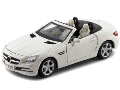 2011 Mercedes-Benz SLK-Class R172 Roadster Blanco 1:24 Maisto 31206