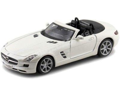 2011 Mercedes-Benz SLS AMG 6.3 Roadster Blanco Perla 1:24 Maisto 31272 Cochesdemetal.es