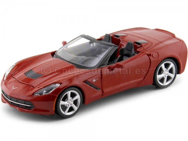 2014 Chevrolet Corvette Stingray Cabrio Rojo 1:24 Maisto 31501