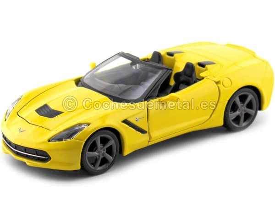 2014 Chevrolet Corvette Stingray Cabrio Amarillo 1:24 Maisto 31501 Cochesdemetal.es