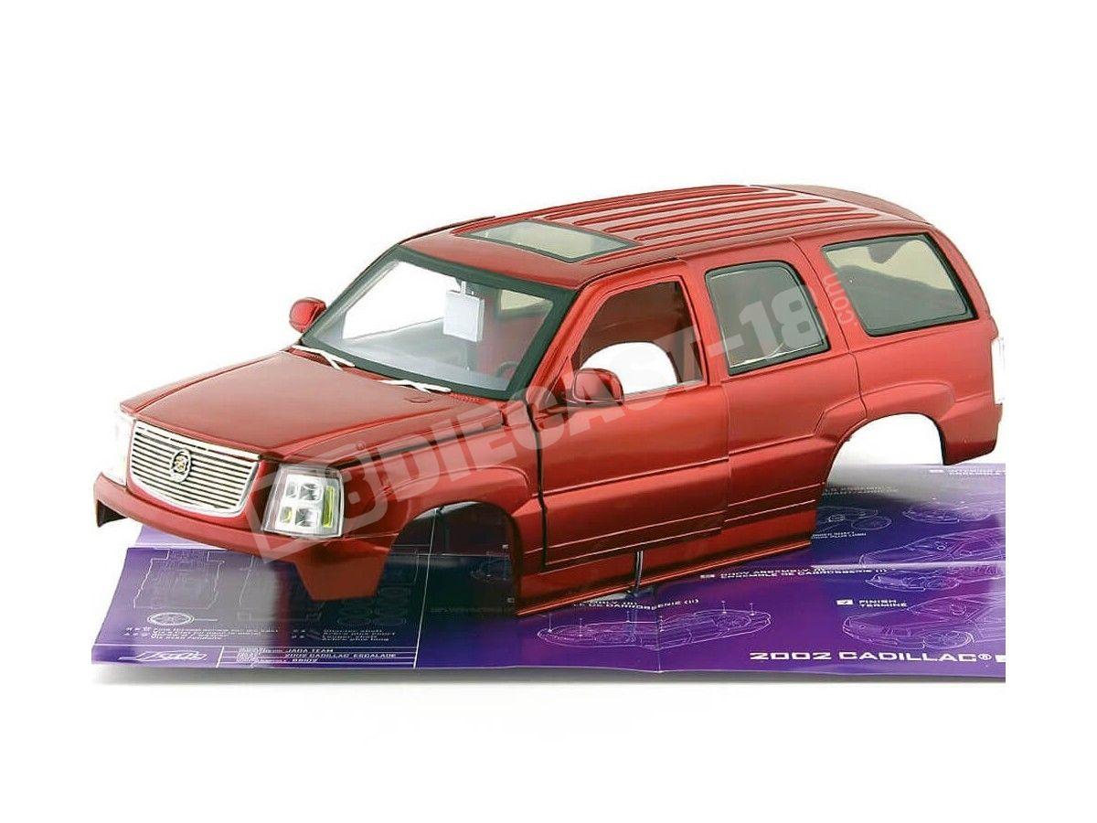 "2002 Cadillac Escalade Custom ""Metal Kit"" Rojo Cereza 1:18 Jada Toys 65102 Cochesdemetal.es"