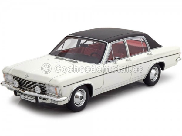 1975 Opel Admiral B White-Black 1:18 BoS-Models 045