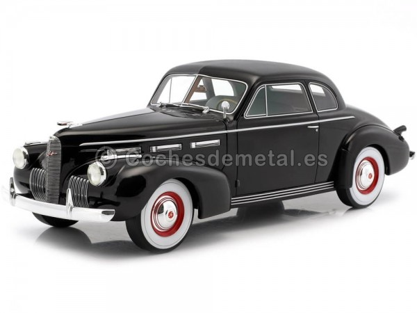 1940 LaSalle Series 50 Coupe Negro 1:18 BoS-Models 314 Cochesdemetal.es
