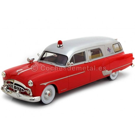 1952 Packard Henney Ambulancia Red-Silver 1:18 BoS-Models 337
