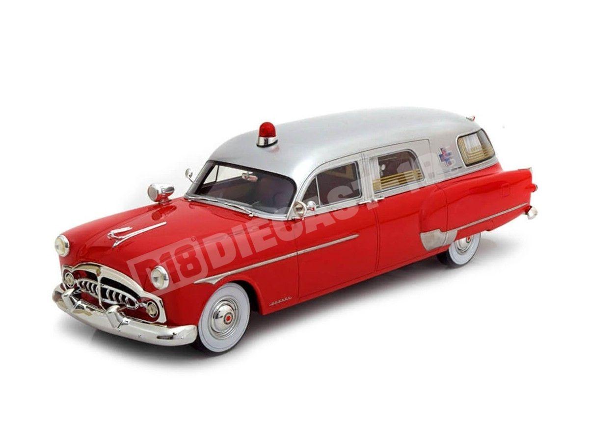 1952 Packard Henney Ambulancia Red-Silver 1:18 BoS-Models 337 Cochesdemetal.es