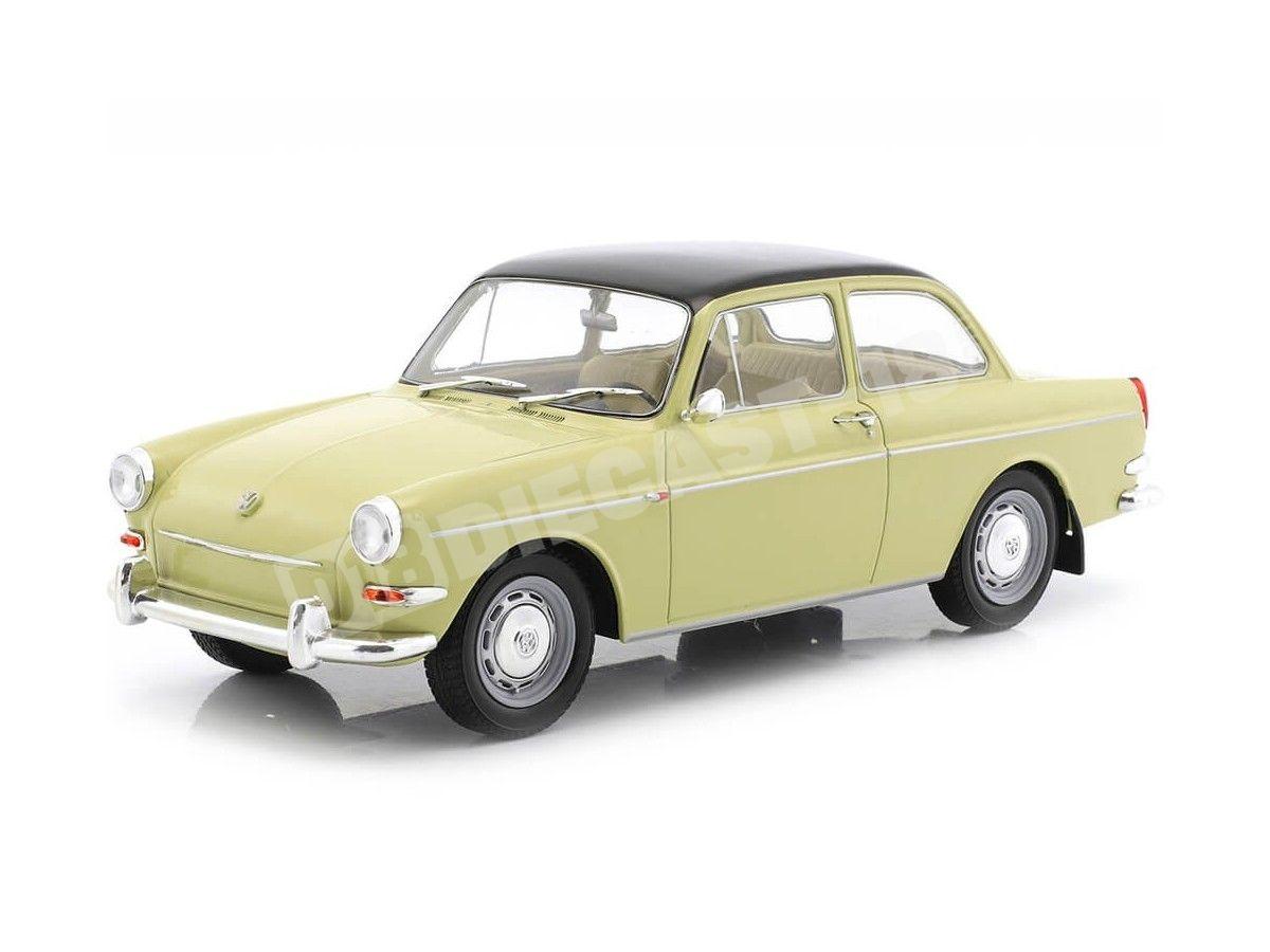 1963 Volkswagen 1500 S (Type 3) Beige-Negro 1:18 MC Group 18089 Cochesdemetal.es
