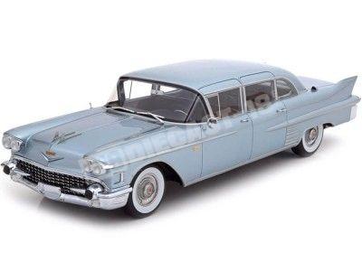 1958 Cadillac Fleetwood 75 Limousine Metallic Blue 1:18 BoS-Models 385 Cochesdemetal.es