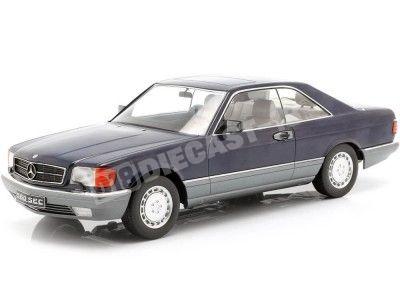 1985 Mercedes-Benz 560 SEC C126 Azul Metalizado 1:18 KK-Scale 180333 Cochesdemetal.es