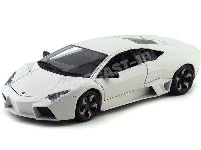 2008 Lamborghini Reventon Flat White 1:18 Bburago 11029 Cochesdemetal.es