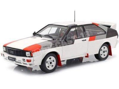 1982 Audi Quattro Rallye Grupo B Blanco 1:18 IXO Models 18CMC011 Cochesdemetal.es