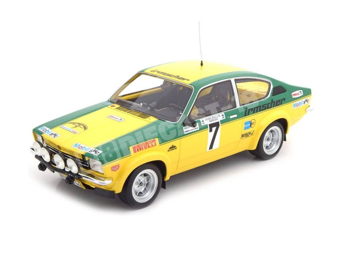 1976 Opel Kadett C GT/E Rally Hessen 7 Smolej-Geistdorfer 1:18 BoS-Models 330 Cochesdemetal.es