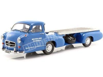 """1955 Mercedes-Benz Renntransporter """"Milagro Azul"""" 1:18 iScale 118000000006 Cochesdemetal.es"""