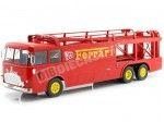 1966 Fiat Bartoletti 306-2 Racing Transporter Ferrari JCB Racing 1:18 Norev 187701