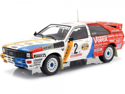 1984 Audi Quattro A1 Winner Rallye Hunsruck 2 Demuth-Lux 1:18 IXO Models 18RMC010