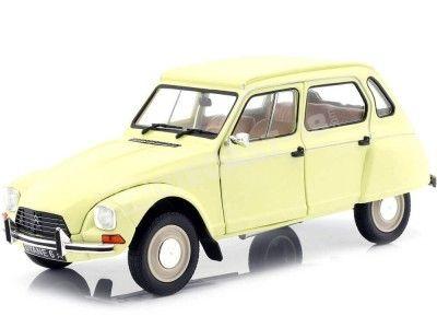 1967 Citroen Dyane 6 Jaune Jonquille 1:18 Solido S1800306 Cochesdemetal.es