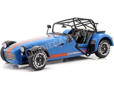 2014 Caterham Seven 275R Azul-Naranja 1:18 Solido S1801802 Cochesdemetal.es