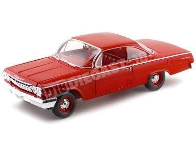 1962 Chevrolet Bel Air Rojo 1:18 Maisto 31641 Cochesdemetal.es