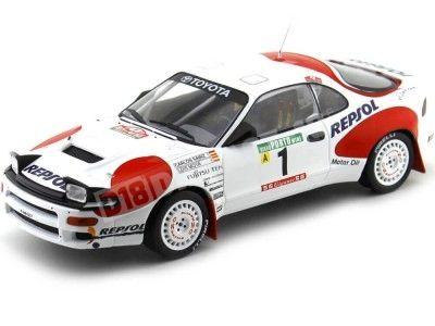 1992 Toyota Celica GT-4 (ST185) Rallye Portugal Carlos Sainz 1:18 IXO Models 18RMC023A Cochesdemetal.es