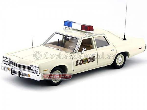 "1974 Dodge Monaco ""Policia Estado de Illinois"" 1:18 Auto World AMM1019 Cochesdemetal.es"
