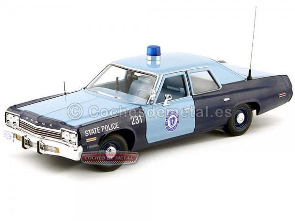 "1974 Dodge Monaco ""Policia Estado de Massachusetts"" 1:18 Auto World AMM1023 Cochesdemetal.es"