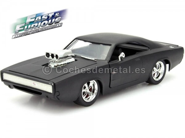 "1970 Dodge Charger Dom ""Fast & Furious IV"" Matt Black 1:24 Jada Toys 97174"