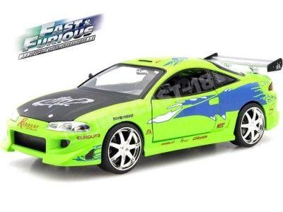 Mitsubishi Eclipse 1995 verde-brian Fast /& Furious coche modelo 1:24//jada Toys