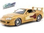 "1995 Toyota Supra Slap Jack ""Fast & Furious"" Gold 1:24 Jada Toys 99540"