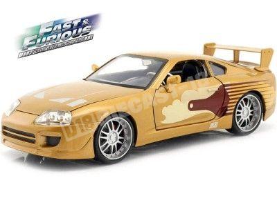 "1995 Toyota Supra Slap Jack ""Fast & Furious"" Gold 1:24 Jada Toys 99540 Cochesdemetal.es"