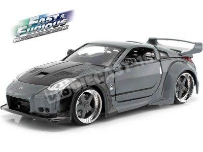 "2003 Nissan 350Z ""Fast & Furious"" Charcoal Grey 1:24 Jada Toys 97172 Cochesdemetal.es"