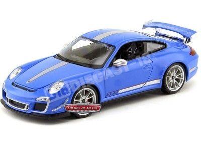 2012 Porsche 911 GT3 RS 4.0 Azul Metalizado 1:18 Bburago 11036 Cochesdemetal.es