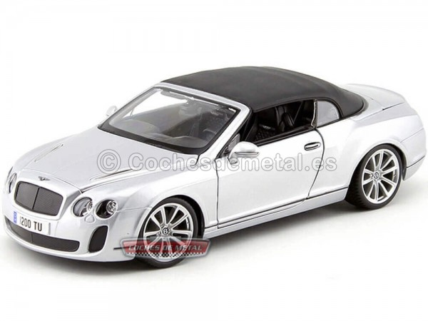 2012 Bentley Continental Supersports Convertible Gris 1:18 Bburago 11037 Cochesdemetal.es