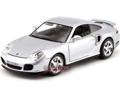 1999 Porsche 911 (966) Turbo Gris Metalizado 1:18 Bburago 12030 Cochesdemetal.es