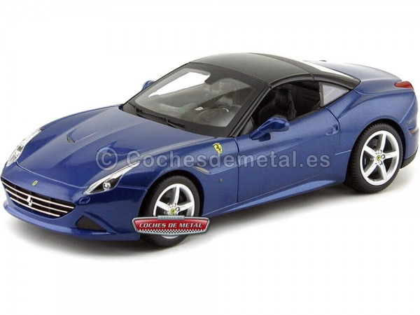 2014 Ferrari California T Closed Top Azul 1:18 Bburago 16003 Cochesdemetal.es
