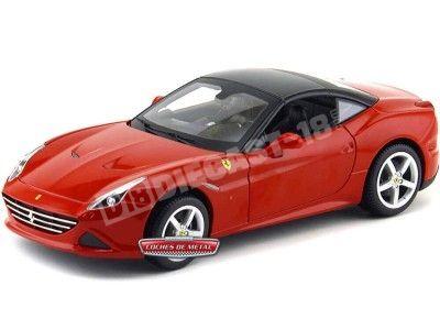2014 Ferrari California T Closed Top Rojo 1:18 Bburago 16003 Cochesdemetal.es