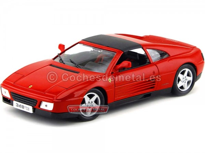 1994 Ferrari 348 TS Rojo 1:18 Bburago 16006 R Cochesdemetal.es