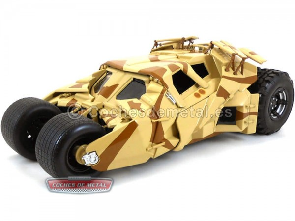 "2012 The Dark Knight Trilogy Batmobile ""Camouflage Tumbler"" 1:18 Hot Wheels BCJ76 Cochesdemetal.es"