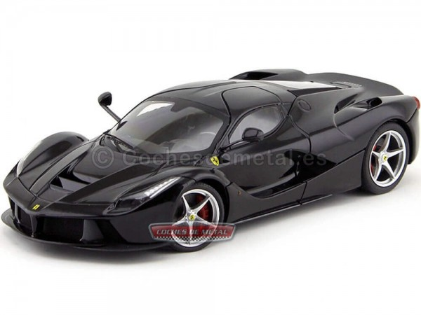 2015 Ferrari F70 LaFerrari Negro 1:18 Hot Wheels Elite BCT80 Cochesdemetal.es