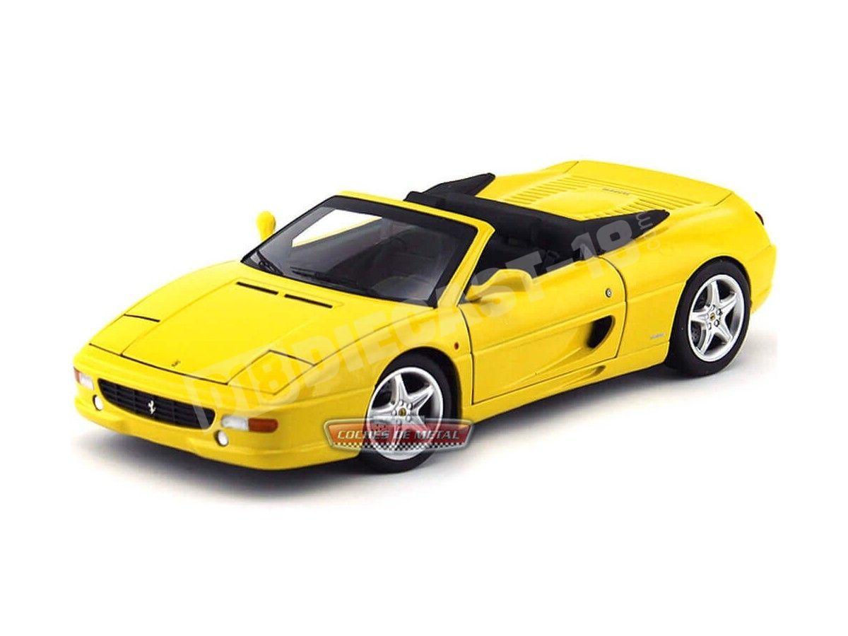 1994 Ferrari F355 Spider Berlinetta Amarillo 1:18 Hot Wheels Elite BLY35 Cochesdemetal.es