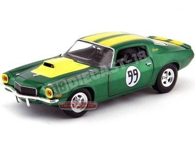 "1974 Chevrolet Camaro 350 ""Duques of Hazzard"" 1:18 ERTL 21958P Cochesdemetal.es"
