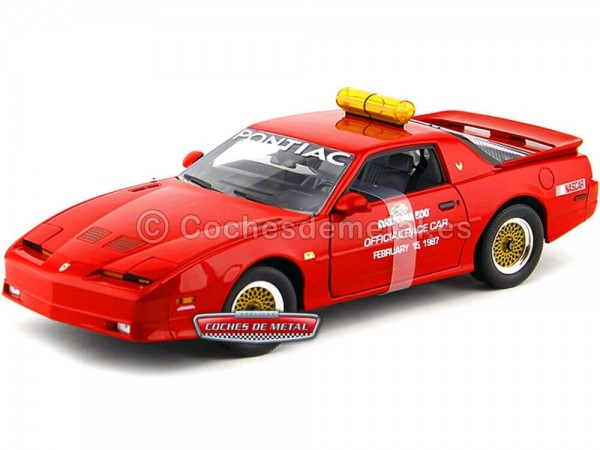 1987 Pontiac Trans AM GTA Pace Car Daytona 500 Rojo 1:18 Greenlight 12858 Cochesdemetal.es