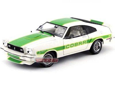 1978 Ford Mustang King Cobra II Blanco-Verde 1:18 Greenlight 12895 Cochesdemetal.es