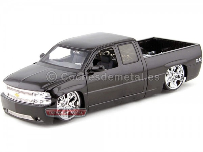 2007 Chevrolet Silverado Custom Negro 1:18 DUB CITY Jada Toys 63112 Cochesdemetal.es