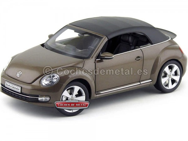 2011 Volkswagen The Beetle Convertible Toffee Brown 1:18 Kyosho 08812TBR Cochesdemetal.es